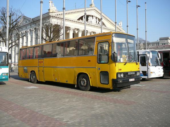 Междугородный автобус Ikarus 254 на шасси Scania. Минск. 28/03/2007