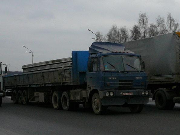 Самосвал TATRA T815 S1 26 6х6.2 переделанный в седельный тягач. Минск. 16.01.2007