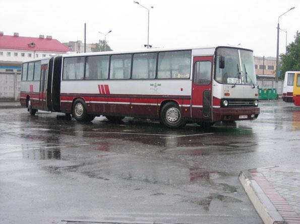 Пригородный автобус особо большой вместимости Ikarus 280.03. Схема дверей 1-0-2-0 Полоцк. 23.08.2006
