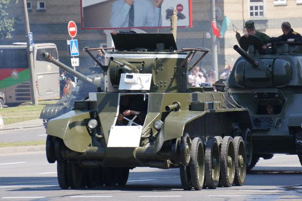 Танки БТ-7 и Т-34-76