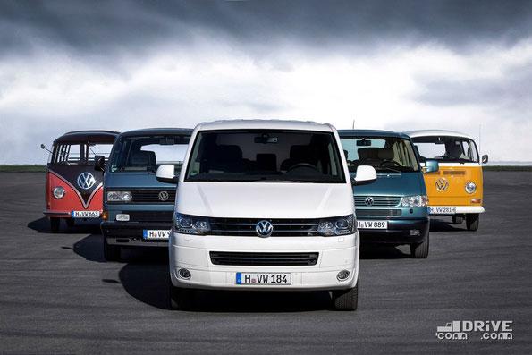 Поколения Volkswagen Bulli. Фото фирменное