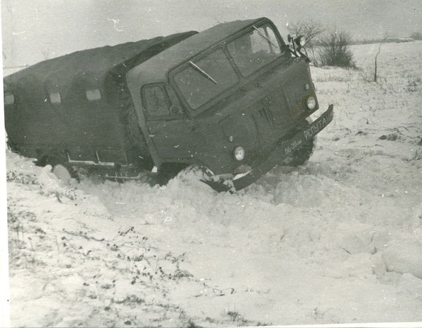 Грузовой автомобиль ГАЗ 66Б в прцессе испытаний. Фото архивное