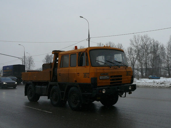 Балластный тягач TATRA T815 TP 6х6.1R. Трасса Дмитров - Москва. 27/02/2009