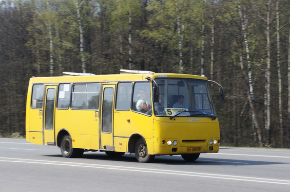 Автобус малого класса Богдан A092. Трасса M7. 29/04/2012