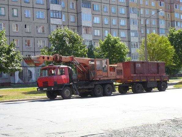 Шасси TATRA T815 P2 6Х6.2 с экскаватором UDS-114. 29.08.2007