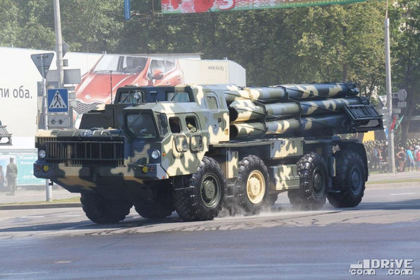 Система залпового огня 9А52-2 РС30 «Смерч» на шасси МАЗ-543М. Минск. 03/07/2013
