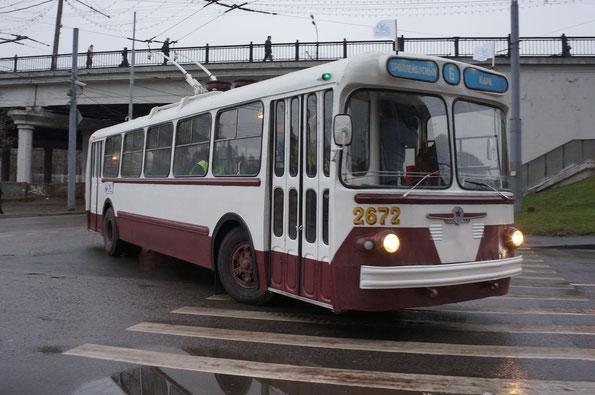 Троллейбус ЗИУ-5Г. Парад «80-летие троллейбуса». Москва. 16.11.2013