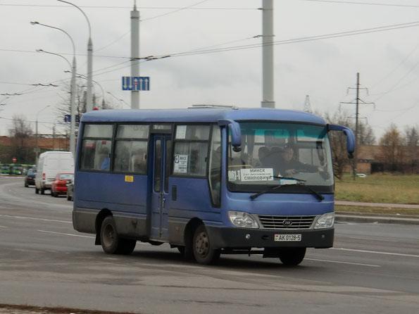 Автобус малой вместимости Chunzhou JNQ6703D1. Минск. 06.11.2010