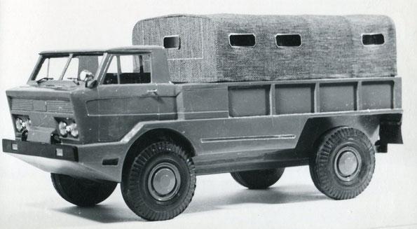 Макет автомобиля ГАЗ 44 с колесной формулой 4х4