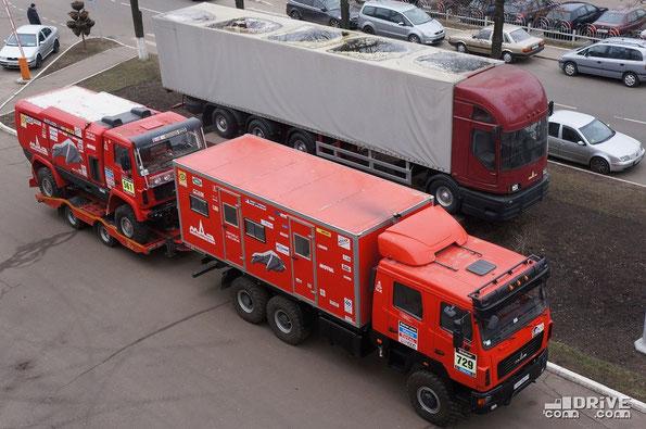 Жилой модуль команды МАЗ-Спорт в кузове КС-6325. Минск. 05/03/2014