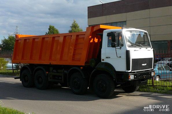 Самосвал МЗКТ-65151. Установлена платформа повышенной вместимости. Минск. 02/08/2007