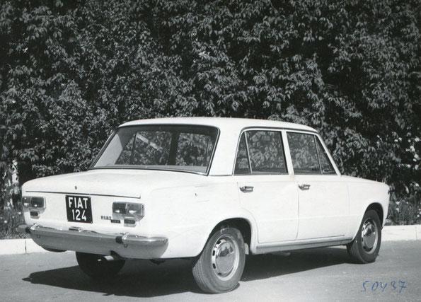 Fiat-124 на испытаниях в СССР. Фото архивное.