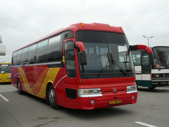 Междугородный автобус Hyundai Aero Space LD. Москва. 16.05.2009
