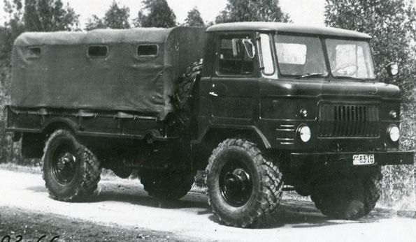 Опытный ГАЗ 66. Обратите  внимание на фальшрадиаторную решетку. Фото архивное