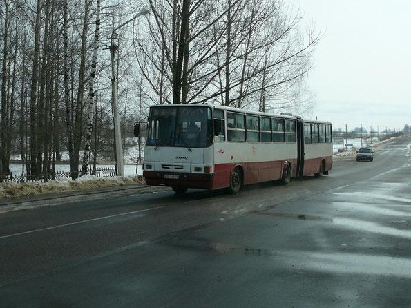 Городской автобус особо большой вместимости Ikarus 280.26. Прошел капремонт в Польше. Руба. 06.03.2007
