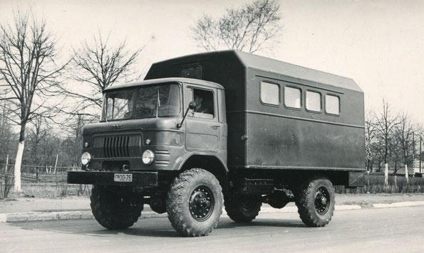 Грузовой автомобиль ГАЗ 66Ф. Опытный образец. Фото архивное