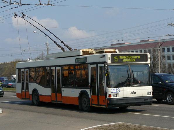 Троллейбус МАЗ-103Т. Зав.№143. Минск. 15.04.2009