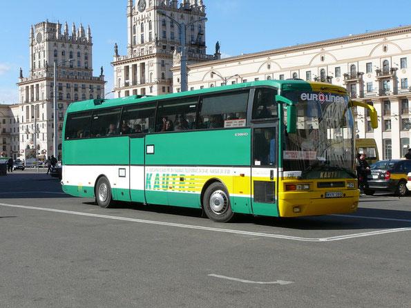 Туристический автобус Ikarus EAG E98HD/398HD на шасси Scania K4X2. Минск. 15.04.2007