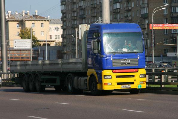 Седельный тягач MAN TGA 18.460. Москва. 15.09.2009. Фото Сергея Филиппова