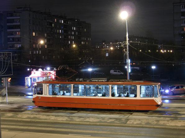 Трамвай модели 71-134А (ЛМ-99АЭ). Москва. 22.10.2010