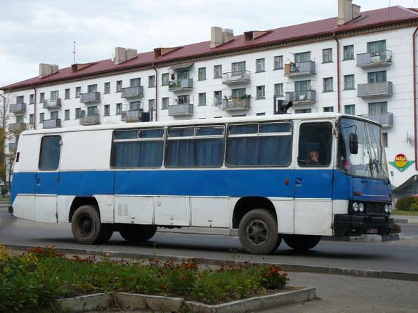 Автобус Ikarus 255. Самодельная переделка в грузопассажирскую версию. Орша. 26.09.2007