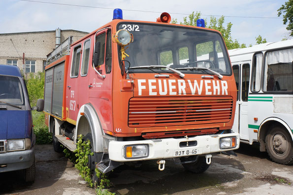 Противопожарная машина на базе MB 1017 из расчета ПЧ167. 24.05.2013