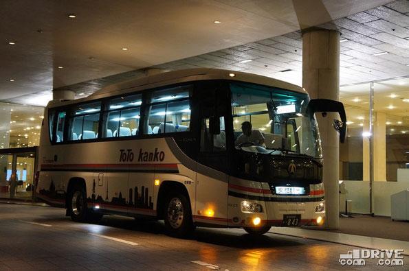 Автобусы компании Toto kanko, возившие нас по Токио, тоже на шасси ISUZU. Токио. 19/06/2014