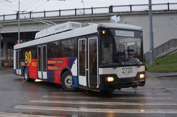 Троллейбус Тролза 5275.00. Москва. 16.11.2013