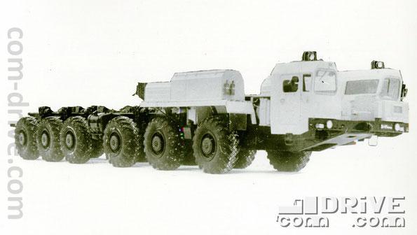 МИНСКИЙ АВТОМОБИЛЬНЫЙ ЗАВОД. МАЗ-7916 - полноприводное колесное шасси типа 12х12. Количество модификаций: 4