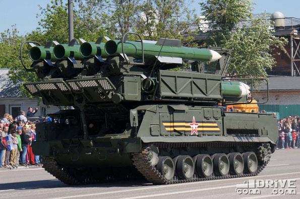 Пуско-заряжающая установка 9А316 зенитно ракетного комплекса Бук-М2