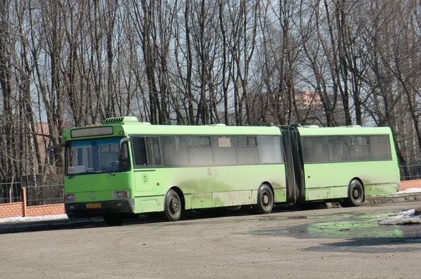 Городской сочлененный автобус ЛАЗ А291. Рязань. 30.03.2010
