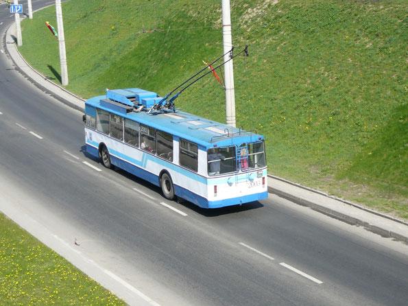 Троллейбус «мод.101», 1995 года. Заводской №59. Минск. 02.05.2009