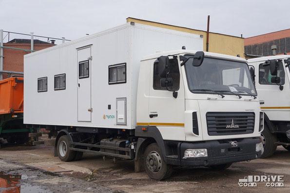 Передвижной офис МАЗ-КУПАВА-478810 на шасси МАЗ-4371W1-440-000. Завод МАЗ. 27/03/2014