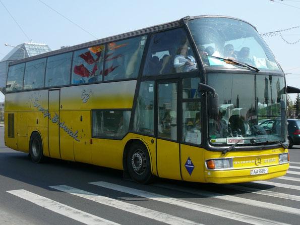 Туристический автобус Ayats Olimpo-B на шасси Mercedes-Benz. Минск. 05/05/2009