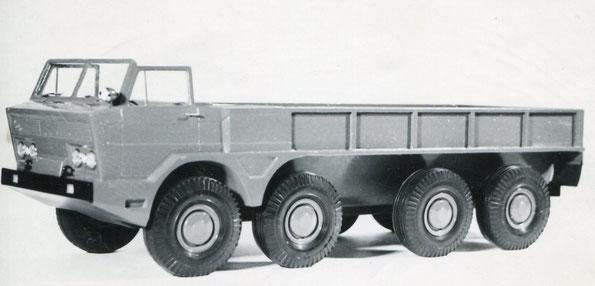 Макет автомобиля ГАЗ 44 с колесной формулой 8х8 с открытым кузовом