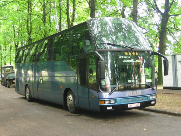 Туристический автобус Ayats Olimpia-1 на шасси MAN A28/42. Фото Сергея Филиппова. Могилев. 03/07/2007