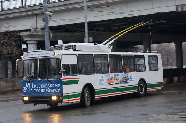 """Троллейбус """"мод.101ПС"""", 2000 года. Заводской №496. Москва. 16/11/2013"""
