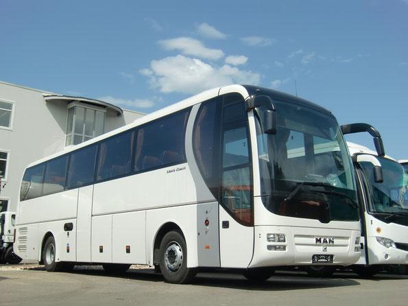 """Туристический автобус MAN Lions Coach R07. Русбизнесавто. Площадка продукции """"Альфа"""". 26/07/2011"""