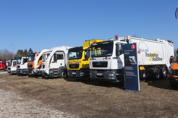 Линейка техники MAN на мероприятии MAN Trucknology Days. Фото фирменное
