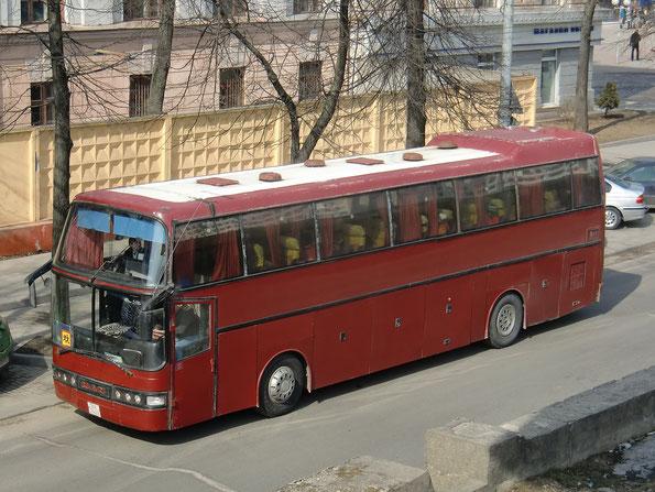 Туристический автобус Dorteller Prens на шасси MAN 16.360 HD. Минск. 28/03/2011