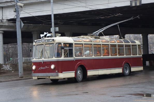Троллейбус МТБС, 1963 года. Москва. 16.11.2013