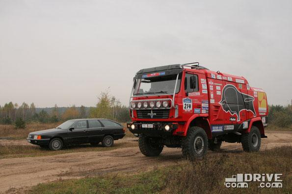 Audi 100 Avant Qattro и МАЗ 5309RR. 14/10/2010