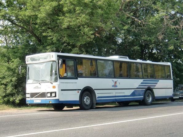 Пригородный автобус Arna M86BF на шасси Volvo B9M-60. Трасса Рязань-Тула. 24.07.2010