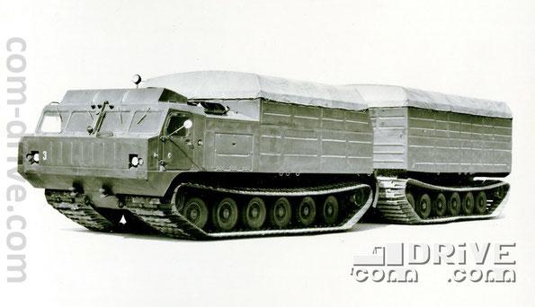 ИШИМБАЙСКИЙ ЗАВОД ТРАНСПОРТНОГО МАШИНОСТРОЕНИЯ. ДТ-20П - плавающий двухзвенный гусеничный транспортер. Количество модификаций: 1