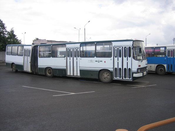 Пригородный автобус особо большой вместимости Ikarus 280.03. Схема дверей 2-2-2-0 (ширмовые). Полоцк. 22.08.2006