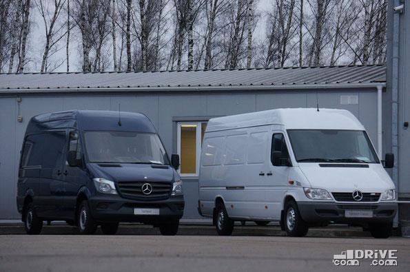 Два поколения Mercedes-Benz Sprinter. Обновленный W906 и Classic W909. Москва. 15/11/2013