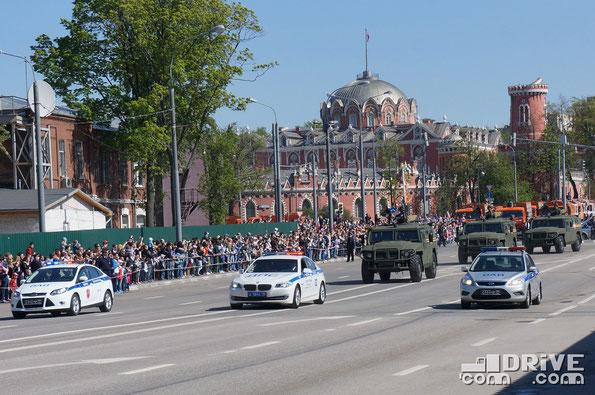 Перегон техники после парада на Красной площади в Москва. 9 мая 2014 года