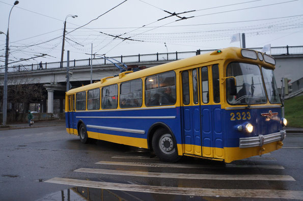 """Троллейбус """"Завода имени Урицкого"""" - ЗИУ-5, 1961 года. Восстановлен на МТРЗ в 1997 году"""