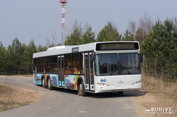 Пригородный автобус МАЗ-107569. Окрестности Минска. 27/03/2014