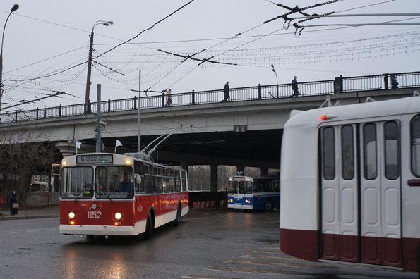 Парад «80-летие московского троллейбуса». Москва. 16.11.2013